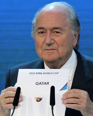 El expresidente de la FIFA Joseph Blatter en 2010