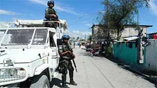 Soldados de la ONU en Haití