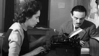 Traductor y mecanógrafa de la BBC en 1943