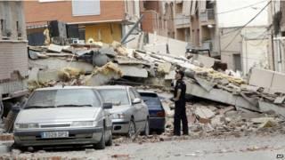 Imagen del terremoto en Lorca en 2011