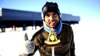 Carlos Pobes, científico español que lleva un año en la Antártida