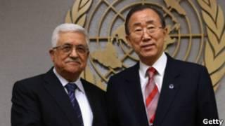 Mahmoud Abbas y Ban Ki Moon