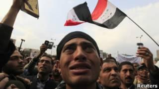 Manifestantes egipcios