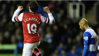 arsenal victory over reading