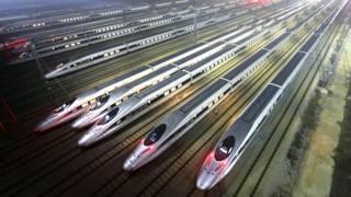 Trens de alta velocidade na China - Foto: Reuters