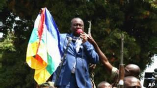 Le président François Bozizé prononçant un discours le 27 décembre à Bangui.