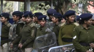 Mujeres policías en Nueva Delhi