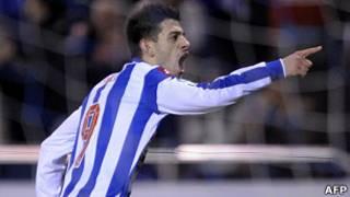 El jugador del Deportivo Pizzi