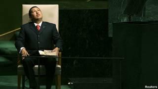 Hugo Chávez presidente de Venezuela en la ONU