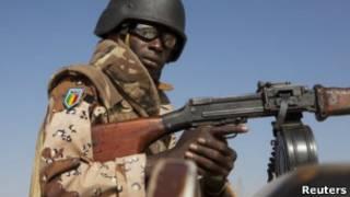 Soldado en Mali