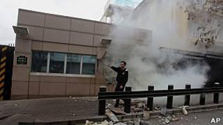 L'ambassade des Etats-Unis à Ankara secouée.