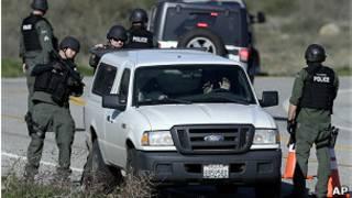 Eefectivos de la policía en California