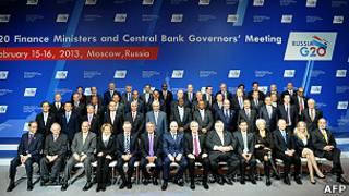 Les participants au sommet du G20 à Moscou