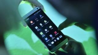 Teléfono HTC con sistema operativo Android