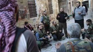 Rebeldes de la oposición siria