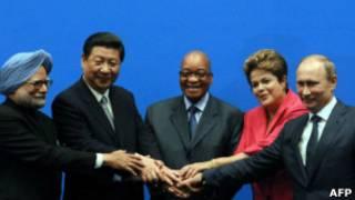 Os líderes dos Brics (AFP)