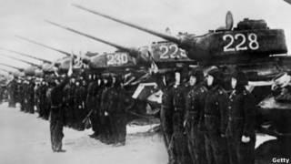 Binh chủng tăng của quân đội Bắc Hàn trong thời gian chiến tranh Nam Bắc Hàn năm 1950-1953.