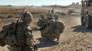Sodados de Reino Unido en Afganistán