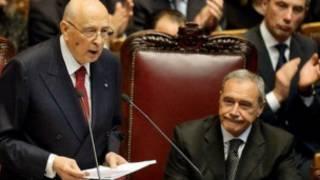 Shugaba Giorgio Napolitano na Italiya