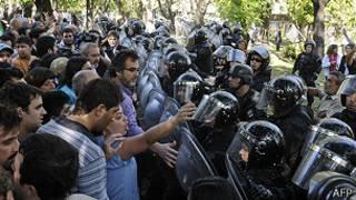 Enfrentamientos en Argentina