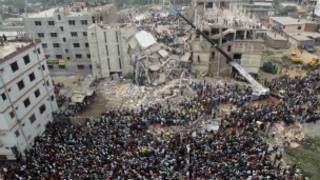 Escombros en Bangladesh