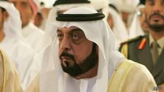 El presidente de EAU jeque Jalifa bin Zayed al Nahyan
