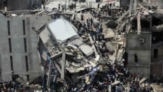 Derrumbe de edificio en Bangladesh