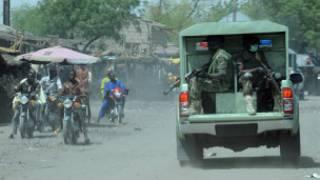 Des soldats en patrouille, dans le Nord-est du Nigeria