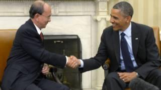 U Thein Sein and President Obama