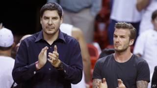 Marcelo y Claure y David Beckham