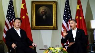 Hai ông Tập Cận Bình và Barack Obama