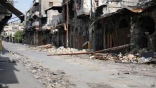 Bangunan rusak akibat perang di Suriah