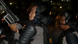 Aparat keamanan di Jakarta