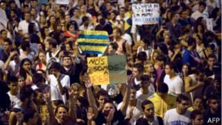 Protestos em Niterói, nesta semana (AFP)