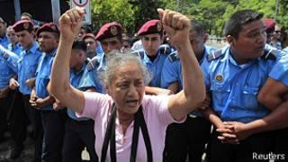 Protestas por la pensión reducida en Nicaragua