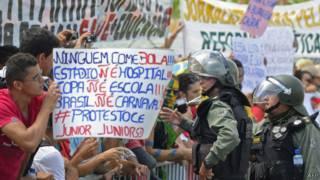 Protestos em Fortaleza / AFP