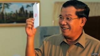 Ông Hun Sen bỏ phiếu trong cuộc bầu cử Thượng viện đầu 2012