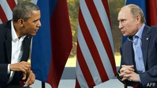 Hai ông Barack Obama và Vladimir Putin trong lần gặp ở Hội nghị G8