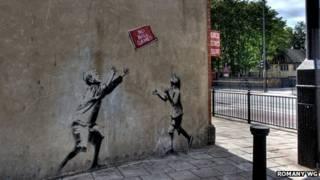 Mural de Banksy | Foto: Divulgação