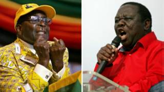 Robert Mugabe et Morgan Tsvangirai
