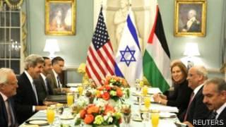 Negociaciones en Washington entre israelíes y palestinos