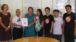 Trao tuyên bố 258 đại sứ quán Thụy Điển