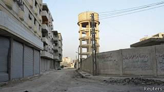 suburbio de Damasco donde supuestamente se realizó un ataque con armas químicas
