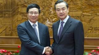 Hai Ngoại trưởng Phạm Bình Minh và Vương Nghị