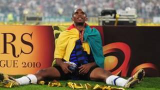 Eto'o, le capitaine des Lions Indomptables, qui se sont qualifiés sans bavure, le 17 novembre 2013, au Mondial 2014