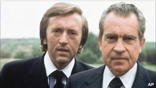 Sir David Frost và cựu Tổng thống Nixon