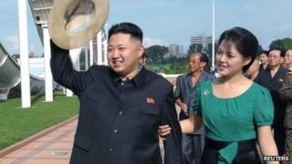 Hai vợ chồng ông Kim Jong-un