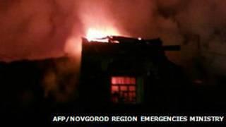 Incendio en Rusia