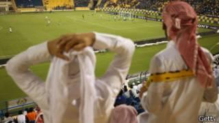 Partido de fútbol en Doha, Qatar