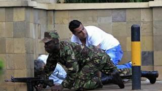 hari a cibiyar kasuwanci a Kenya